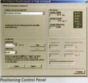 Positioning Control Panel